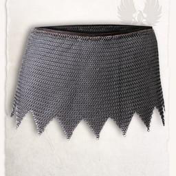 Cota de malla falda de Richard, acero suave, a tope