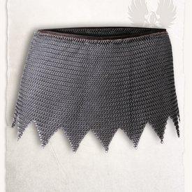 Mytholon Cota de malla falda de Richard, acero suave, a tope