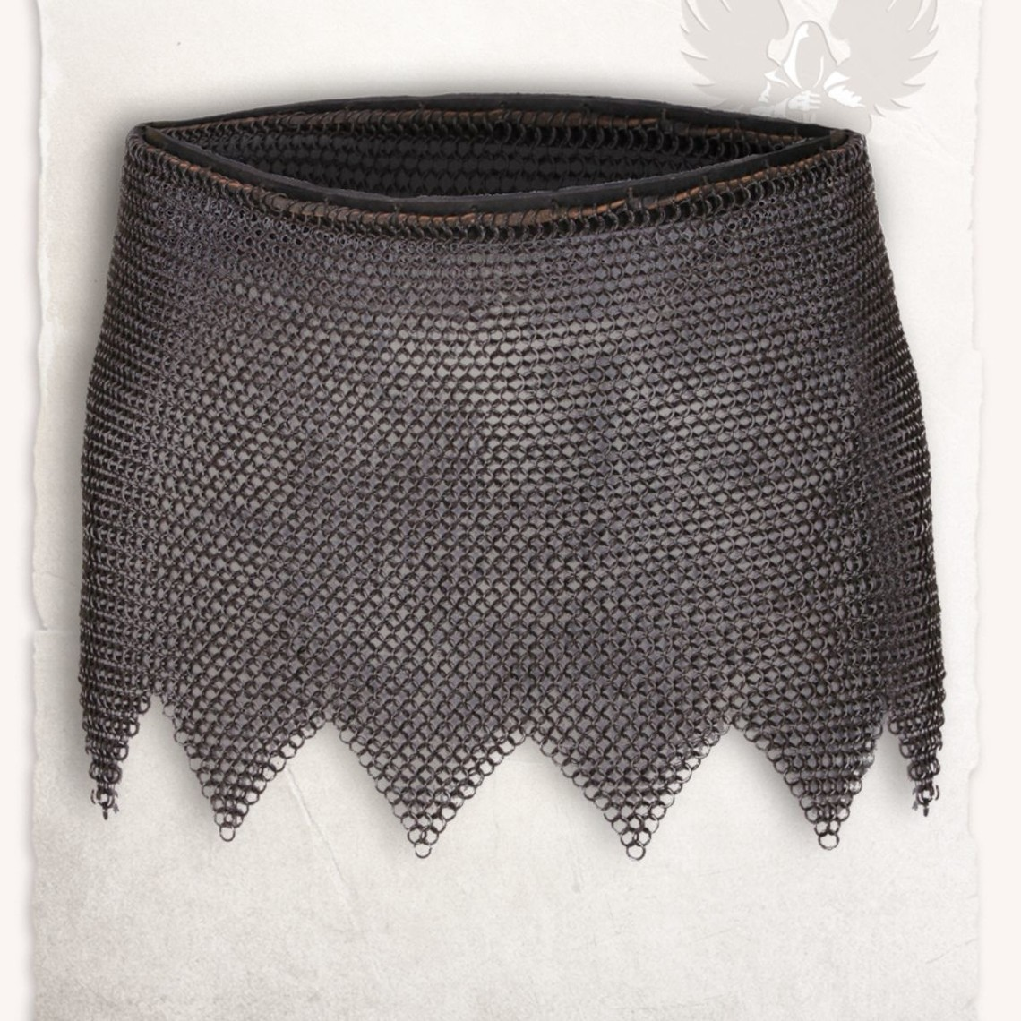 Mytholon Chainmail skirt Richard, mild steel, butted bronzed