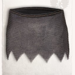 Cota de malla falda de Richard, acero suave, a tope bronceado