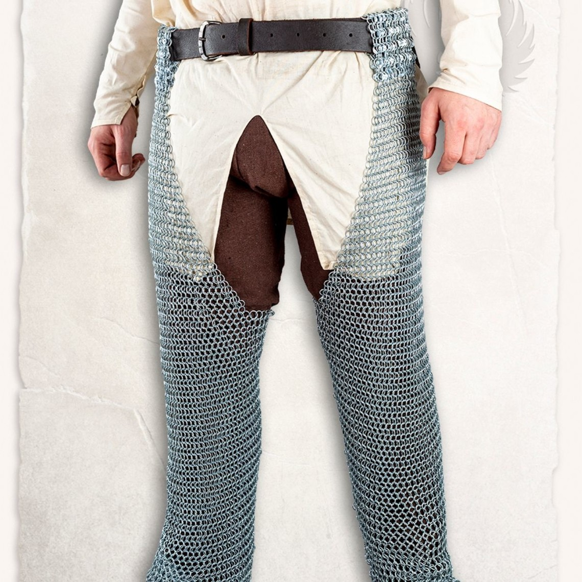 Mytholon Richard, chausses Chainmail anneaux ronds butted