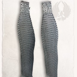 Chainmail chausses Richard, butted round rings bronzed