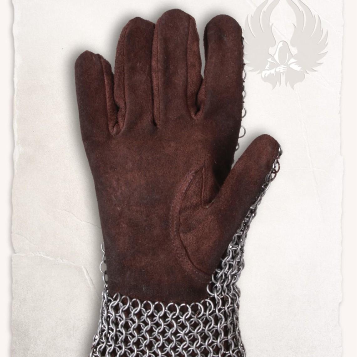 Mytholon Cota de malla guanteletes Richard, anillos circulares a tope