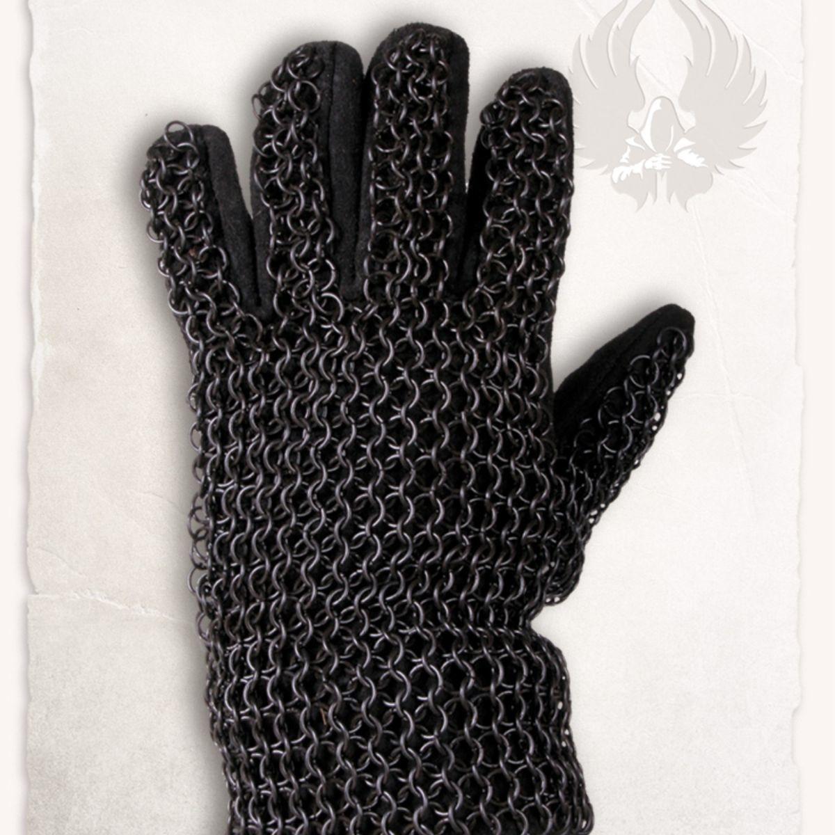 Maliënhandschoenen Richard, gebronsd