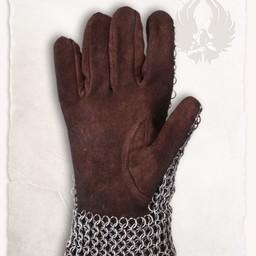Cota de malla guanteletes Richard, bronceada