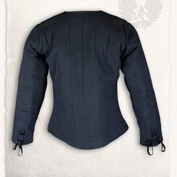 15. Jahrhundert gambeson Aulber, schwarze Leinwand