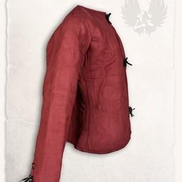 15 wieku przeszywanica Aulber, bordowy płótno
