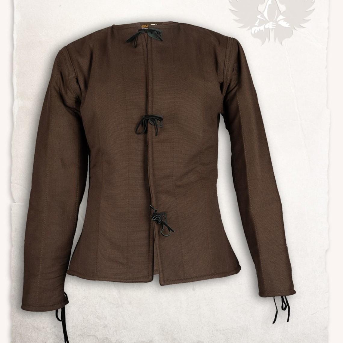 Mytholon secolo gambeson 15 Aulber, tela marrone