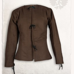 15 wieku przeszywanica Aulber, brązowy płótno
