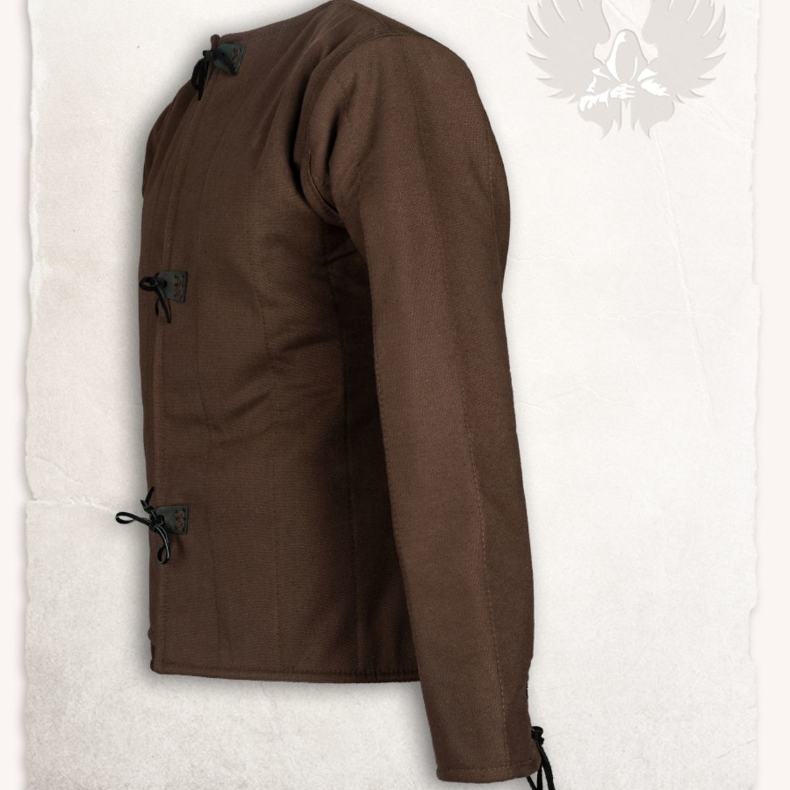 Mytholon 15de eeuwse gambeson Aulber, bruin canvas