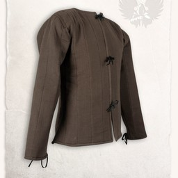 15th century gambeson Aulber, brown canvas