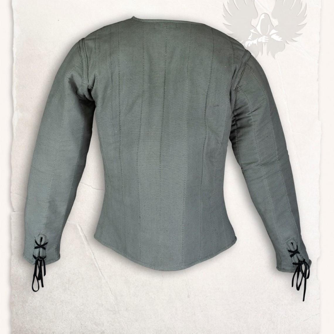 Mytholon gambesón siglo 15 Aulber, aceituna verde de la lona