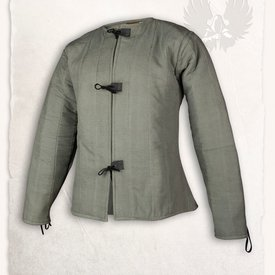 Mytholon 15th century gambeson Aulber, olive green canvas