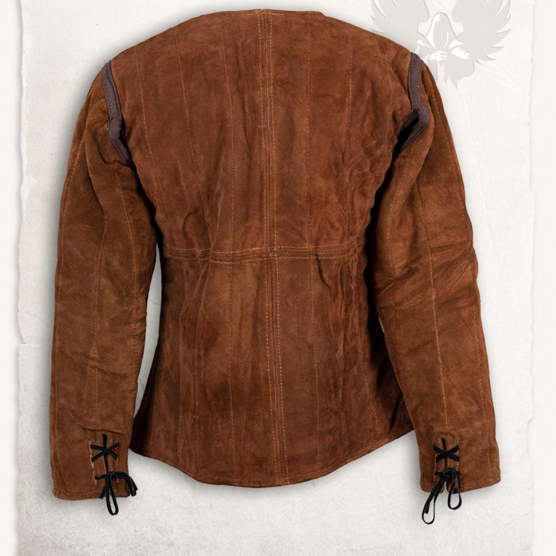 Mytholon 15 ° secolo gambeson Aulber camoscio marrone chiaro