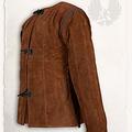 Mytholon 15ème siècle gambison Aulber en daim marron clair