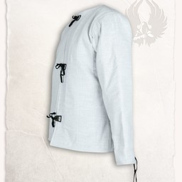 Linen gambeson Aulber white