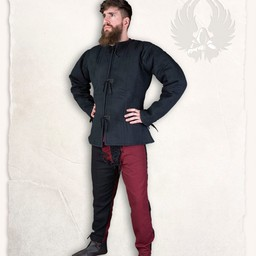Linen gambeson Aulber black