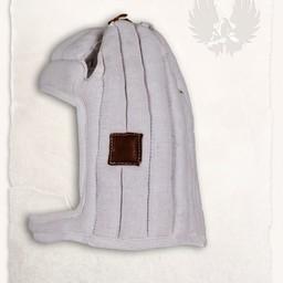 Linen arming cap Aulber white