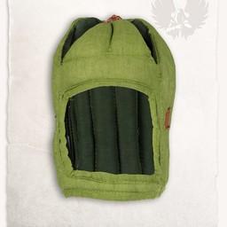 Linen arming cap Aulber green