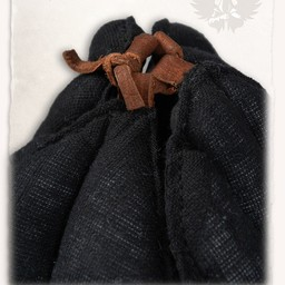 Linen arming cap Aulber black open