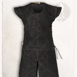 Suede leather gambeson Brandon black