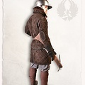 Mytholon Gambesón Arthur gamuza de cuero de color marrón claro