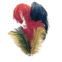 Feather for knight helmets, red