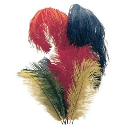 Windlass Steelcrafts Feather for knight helmets, red