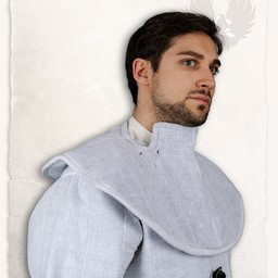 Gambeson hood and collar Aulber linen white