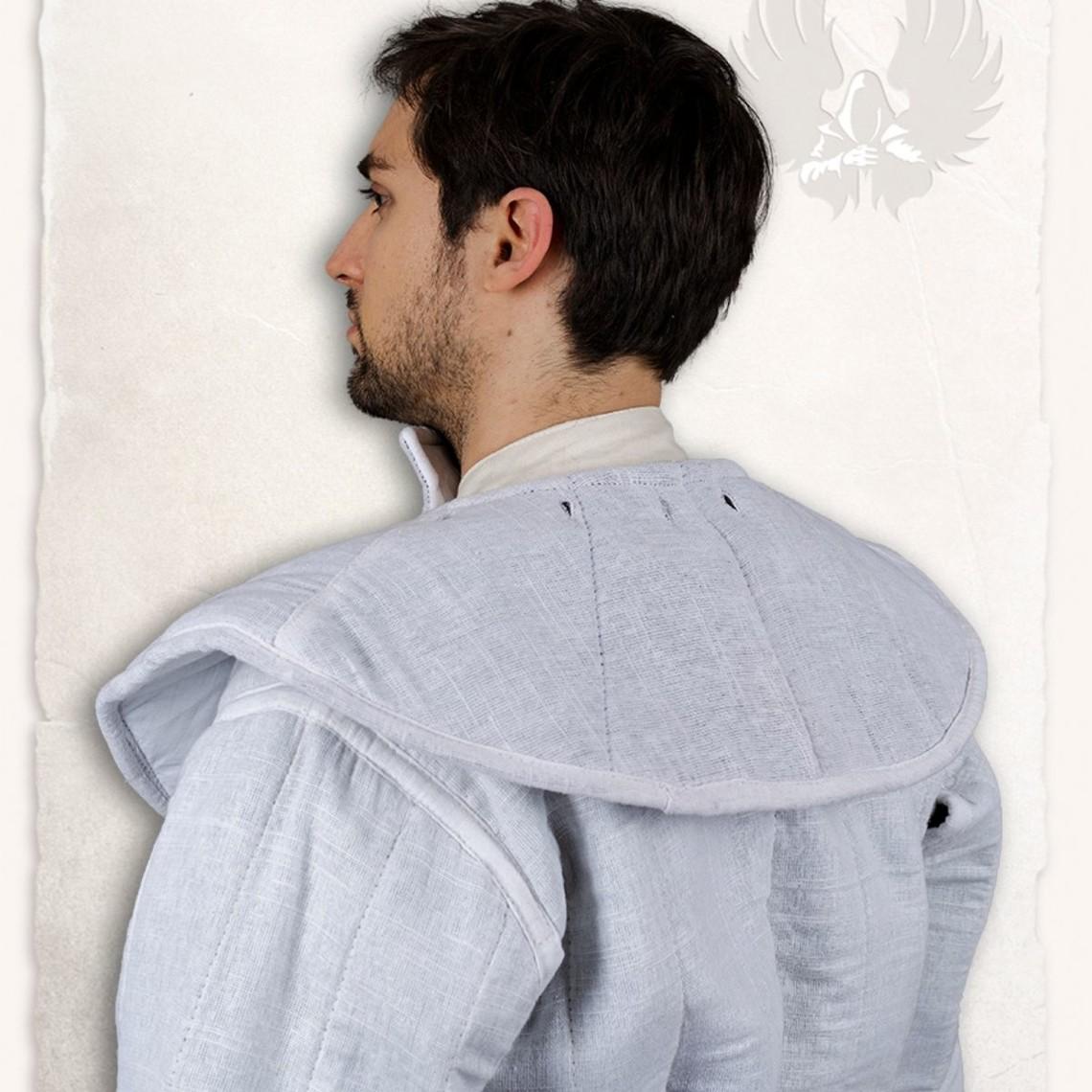 Mytholon Gambeson findes hætte og krave Aulber linned hvidt