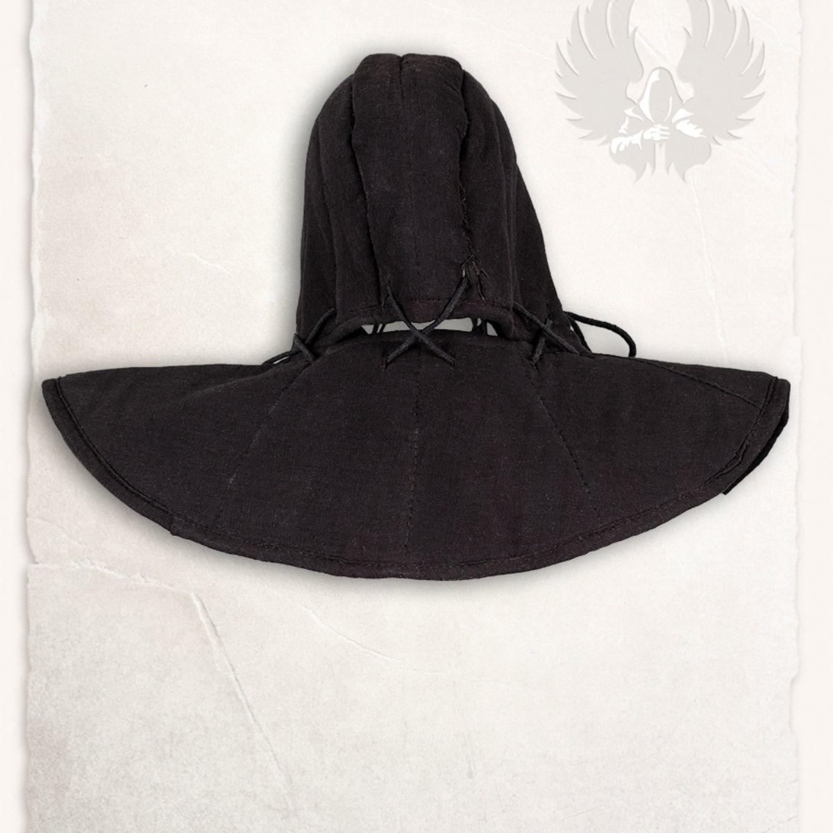 Gambeson kap en kraag Aulber linnen zwart