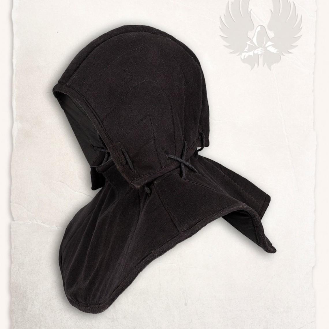 Mytholon Gambeson findes hætte og krave Aulber linned sort