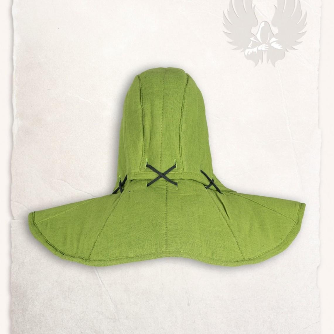 Mytholon Gambeson findes hætte og krave Aulber linned grøn