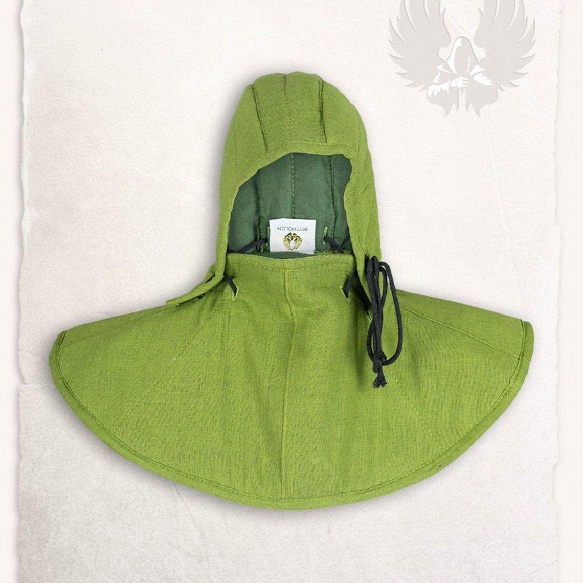 Mytholon Gambeson kap en kraag Aulber linnen groen