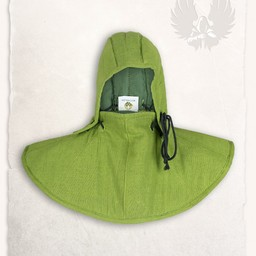 Gambeson hood and collar Aulber linen green