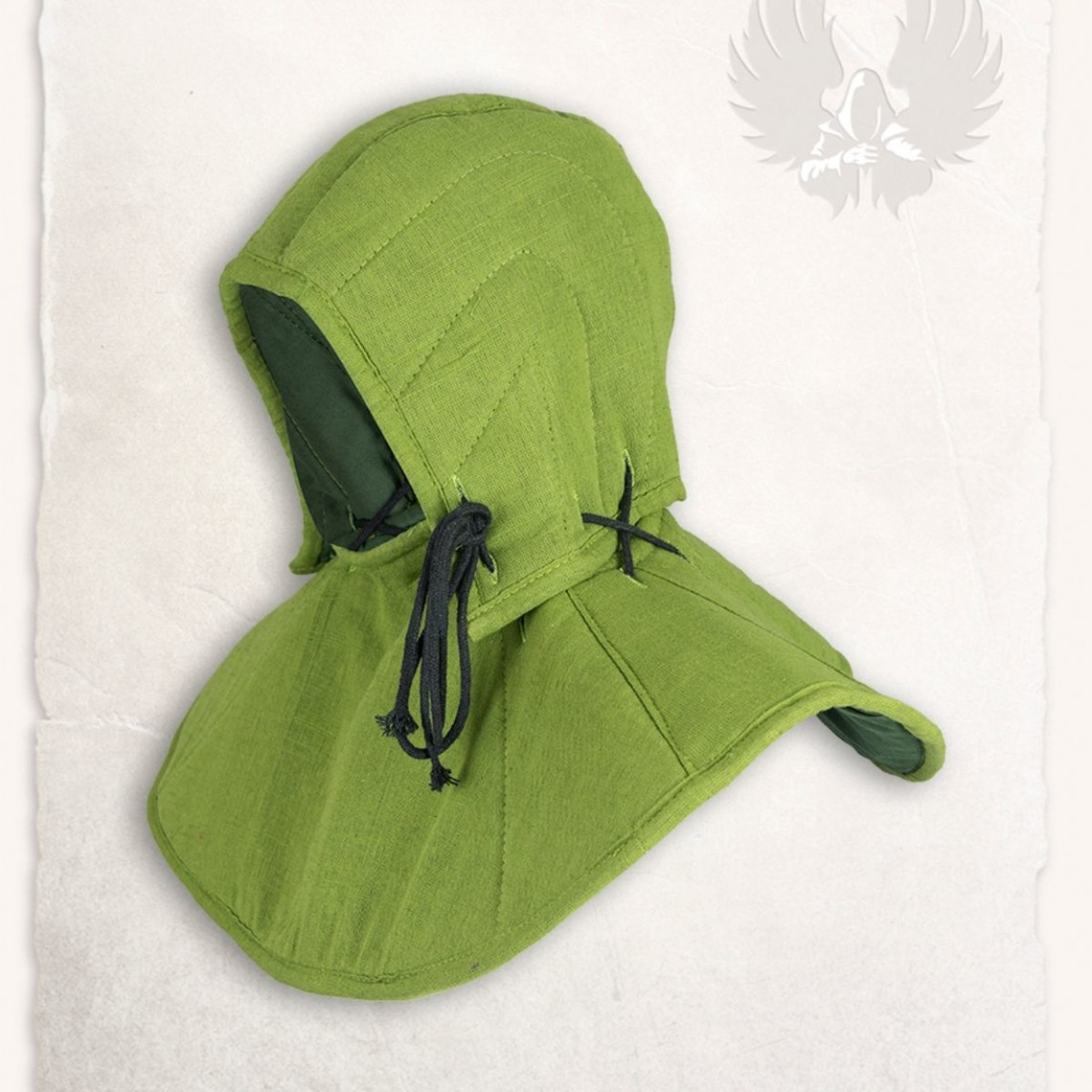 Mytholon cappuccio Gambeson e collare Aulber lino verde