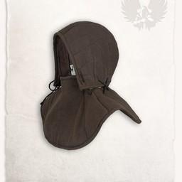 Gambeson findes hætte og krave Aulber linned brun