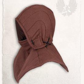 Mytholon Przeszywanica kaptur i kołnierz Aulber brązowy