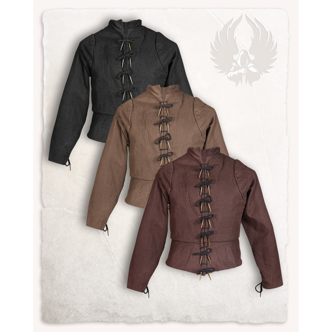 Mytholon Tudor gambeson marrón