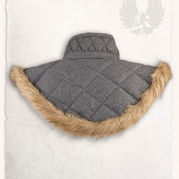 Gambeson collar Nimue wool grey