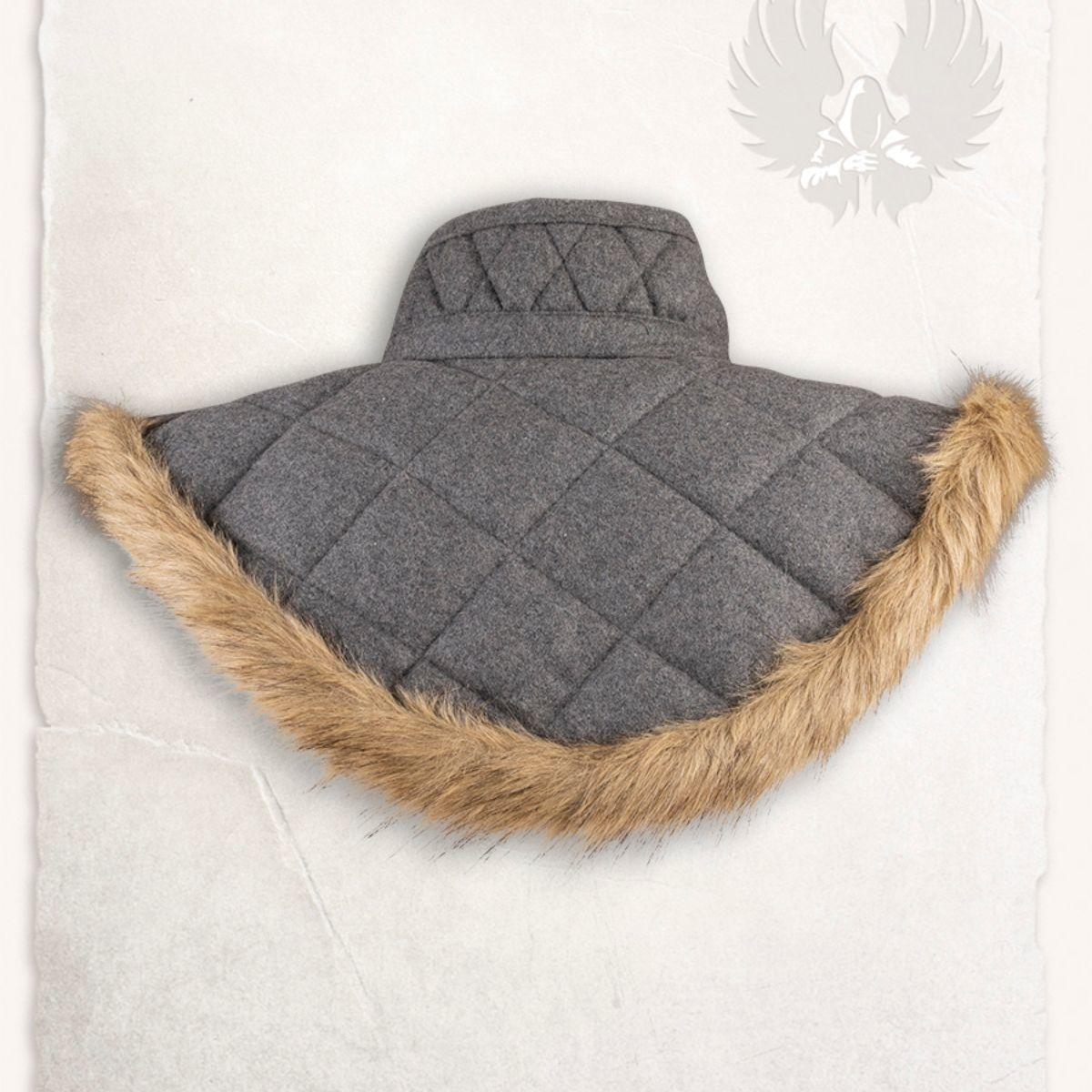 Gambeson kraag Nimue wol grijs