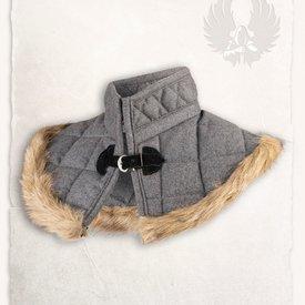 Mytholon collare Gambeson grigio di lana Nimue