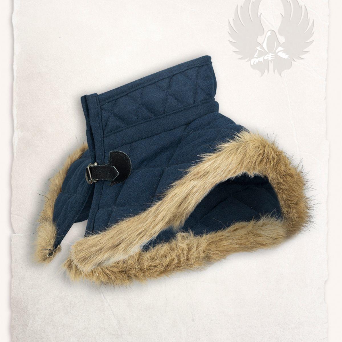 Gambeson kraag Nimue wol blauw