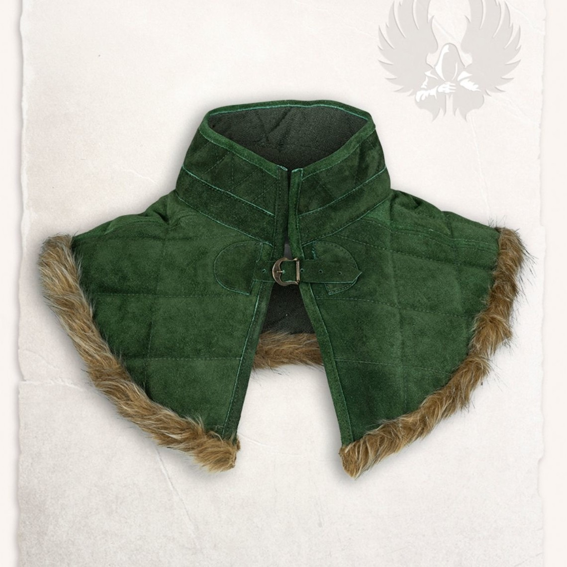Mytholon Gambeson collare Nimue camoscio verde in pelle