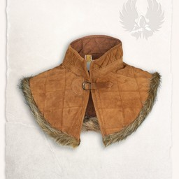 Gambeson collar Nimue suede leather light brown