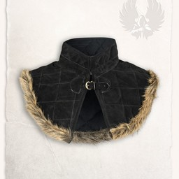 Gambeson collar Nimue suede leather black