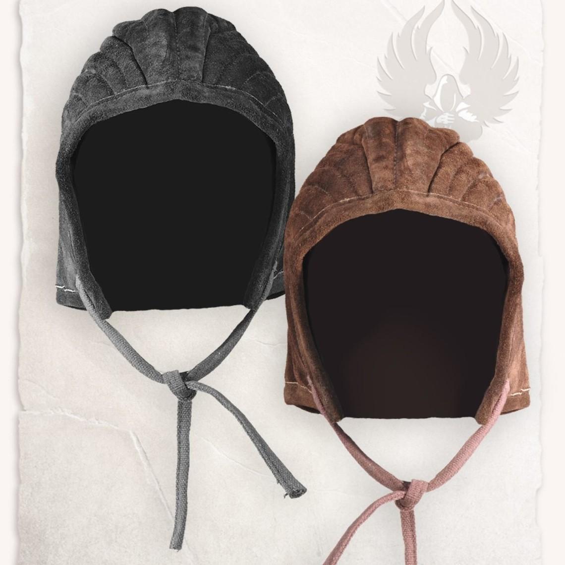 Mytholon Arming cap gambeson Leopold leather black