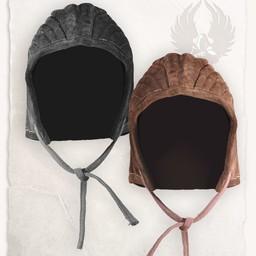 Armado casquillo gambesón Leopold negro de cuero