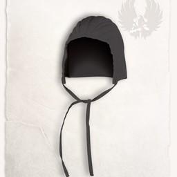 czapka uzbrajanie przeszywanica Leopold bawełniane płótno czarny