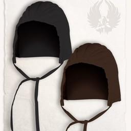 casquillo de armado gambesón negro lona de algodón Leopold